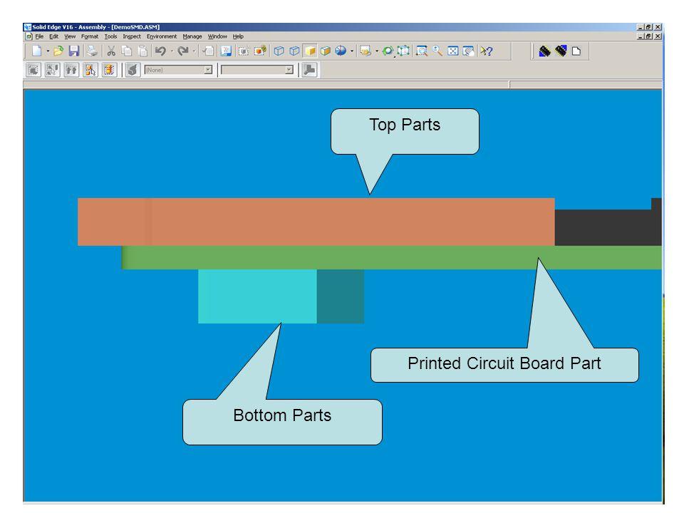 Top Parts Bottom Parts Printed Circuit Board Part