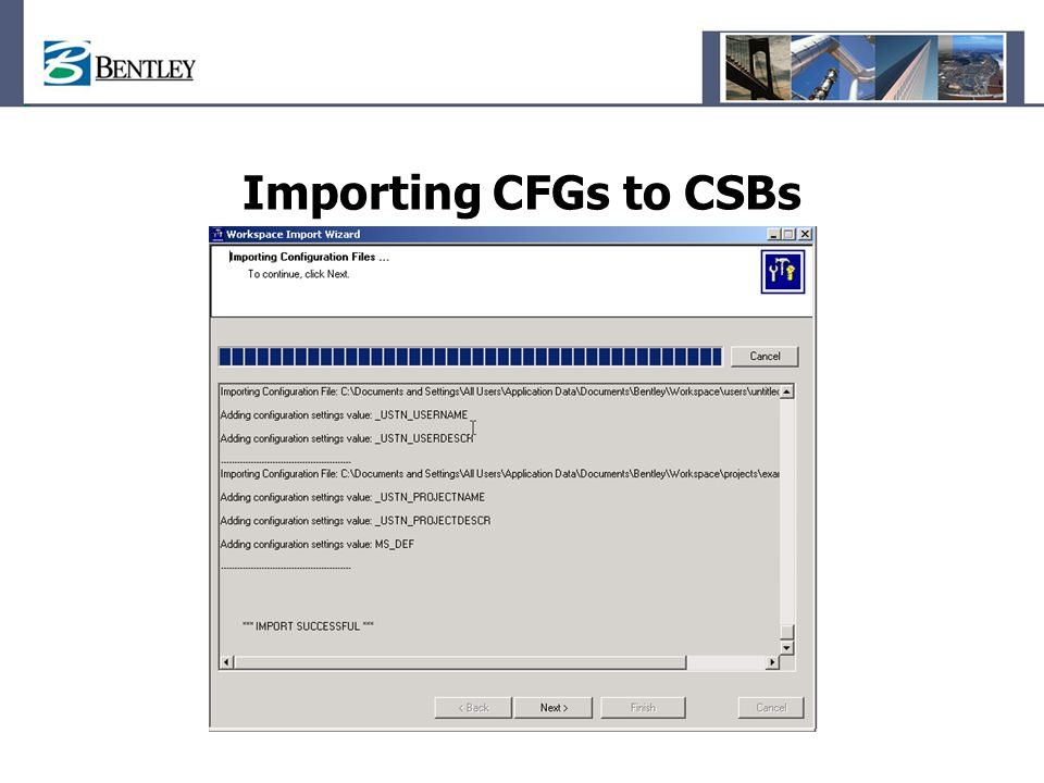 Importing CFGs to CSBs