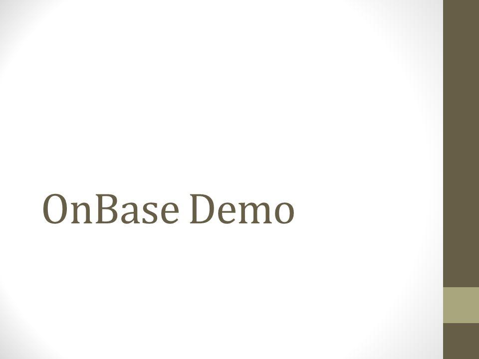 OnBase Demo