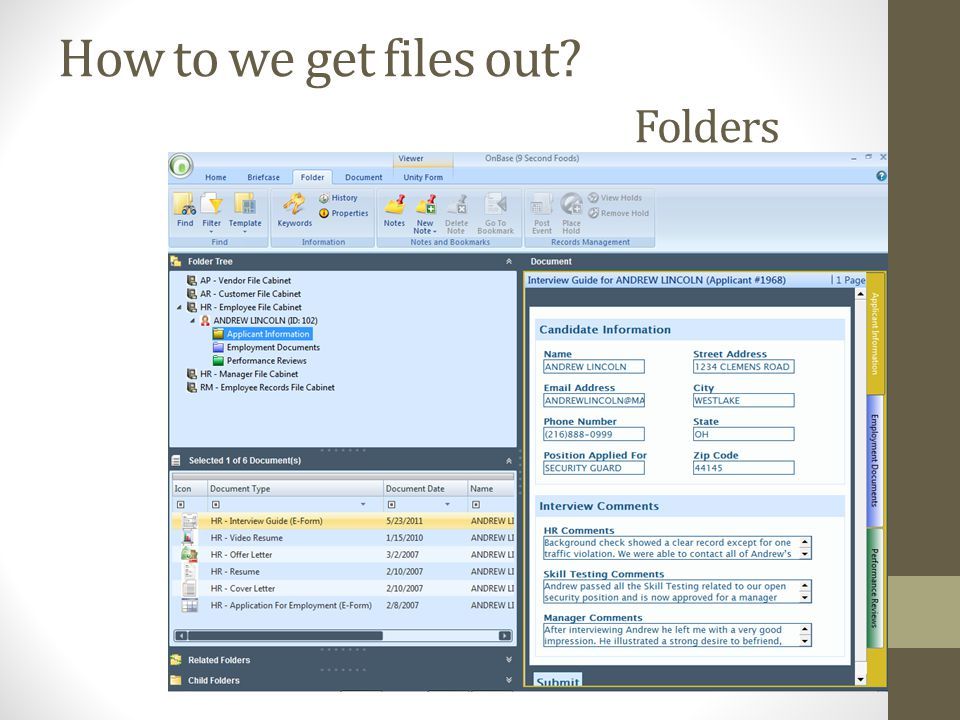 How to we get files out? Folders
