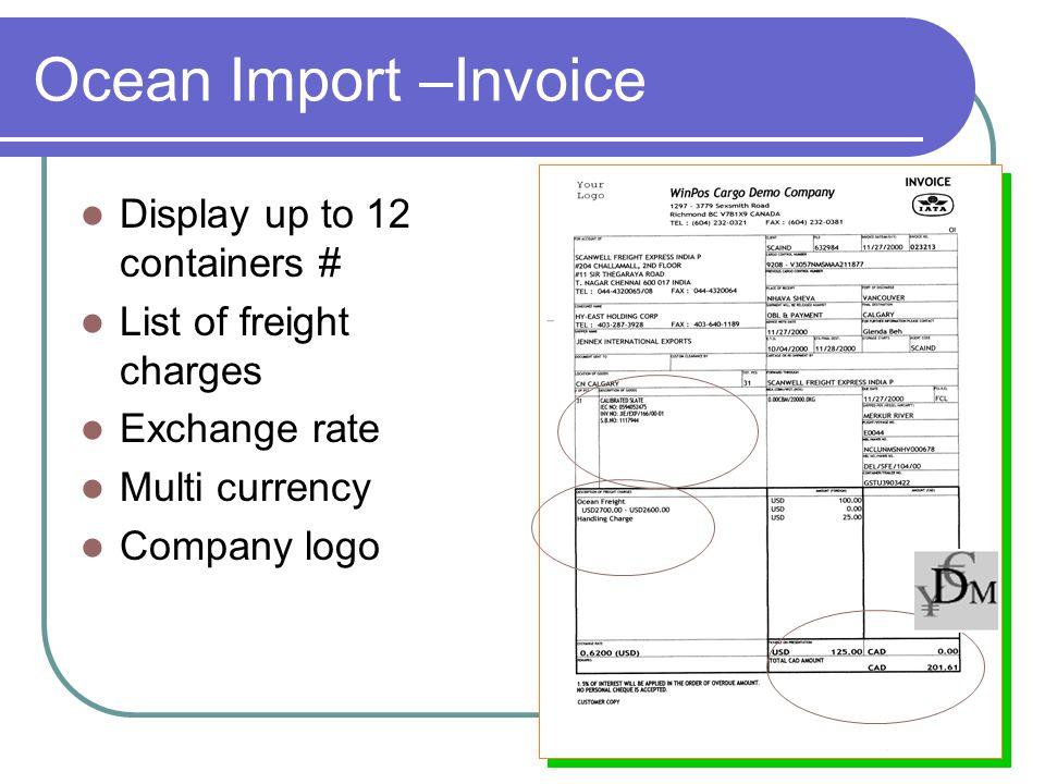 Ocean Import-Manifest /Simple Simple Manifest: For local agents Simple Manifest: For local agents