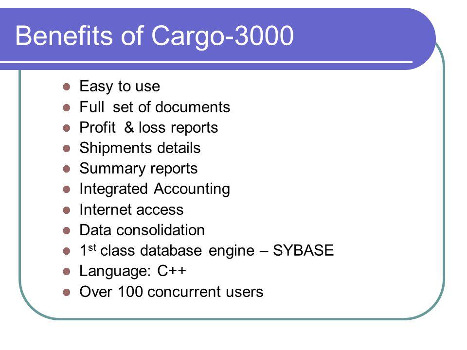 Cargo-3000 logistic software T: 604-273-8989, F: 604-273-8181. www.aptus.ca