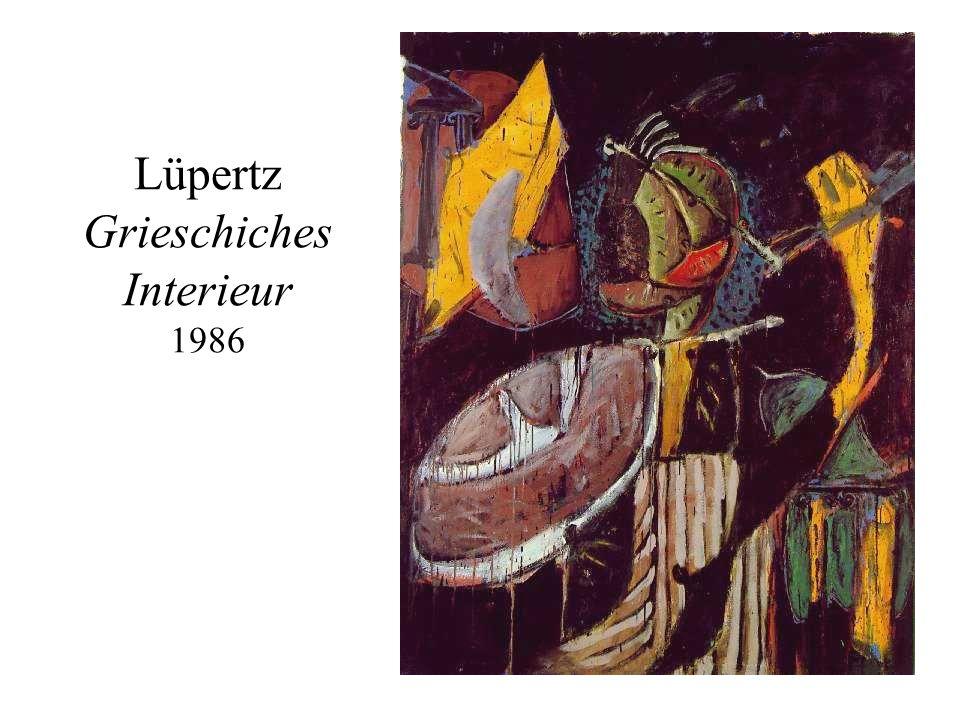 Lüpertz Grieschiches Interieur 1986