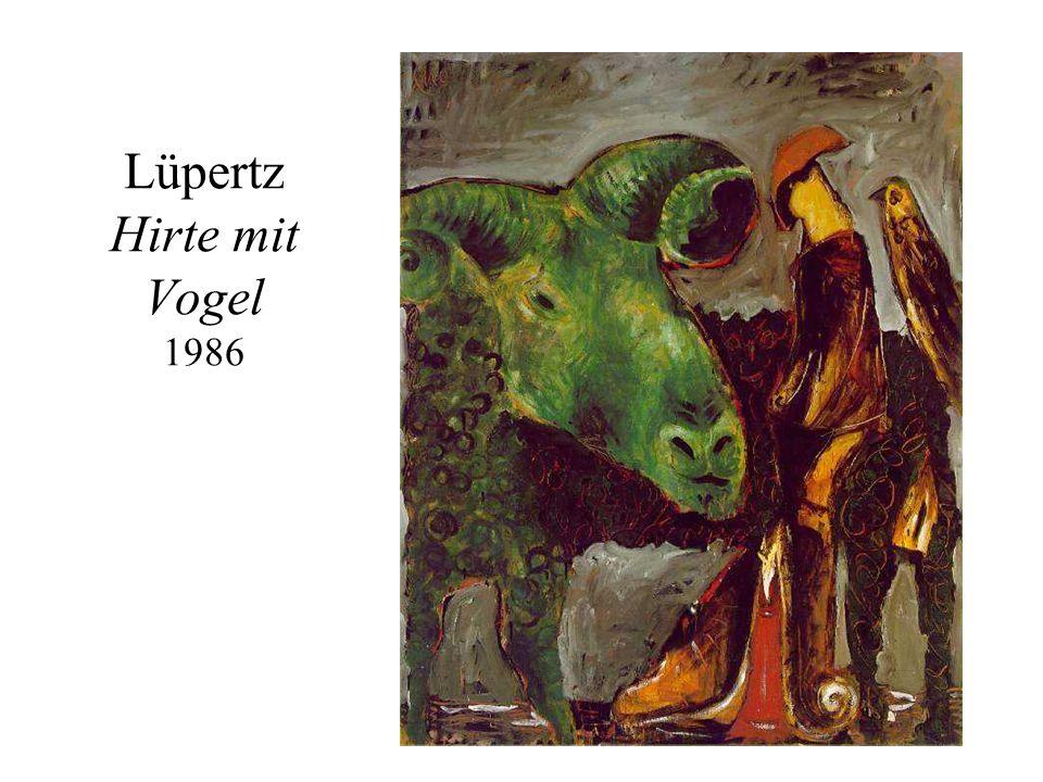 Lüpertz Hirte mit Vogel 1986