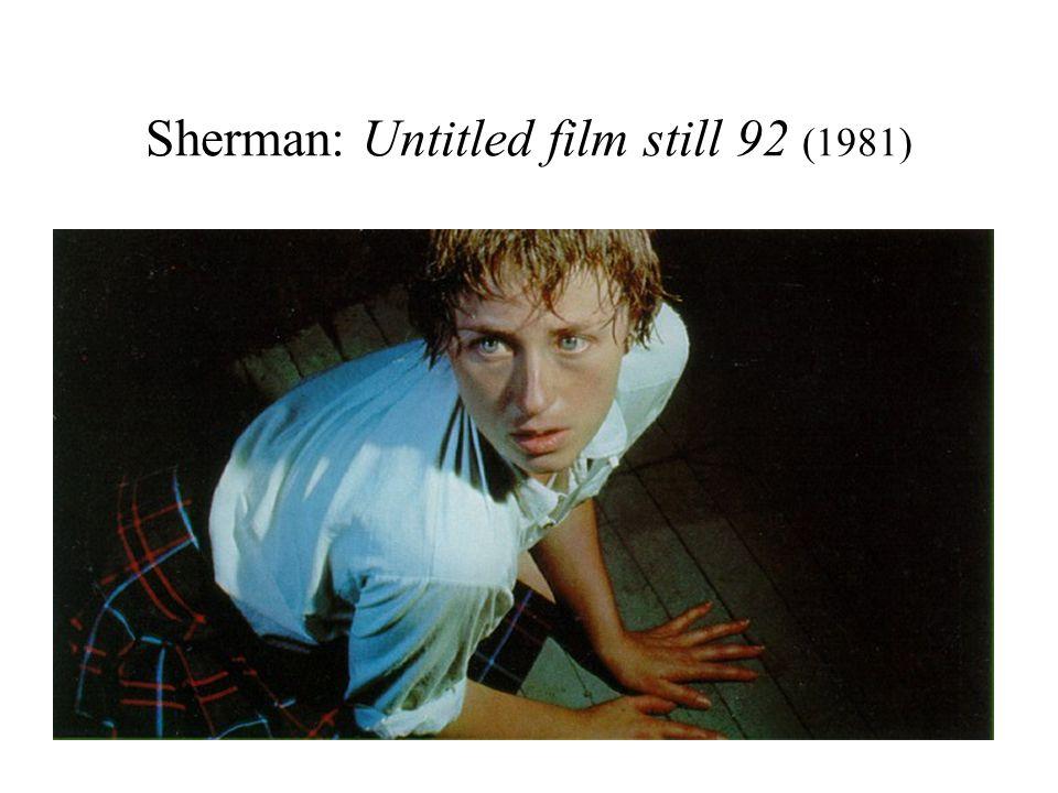 Sherman: Untitled film still 92 (1981)