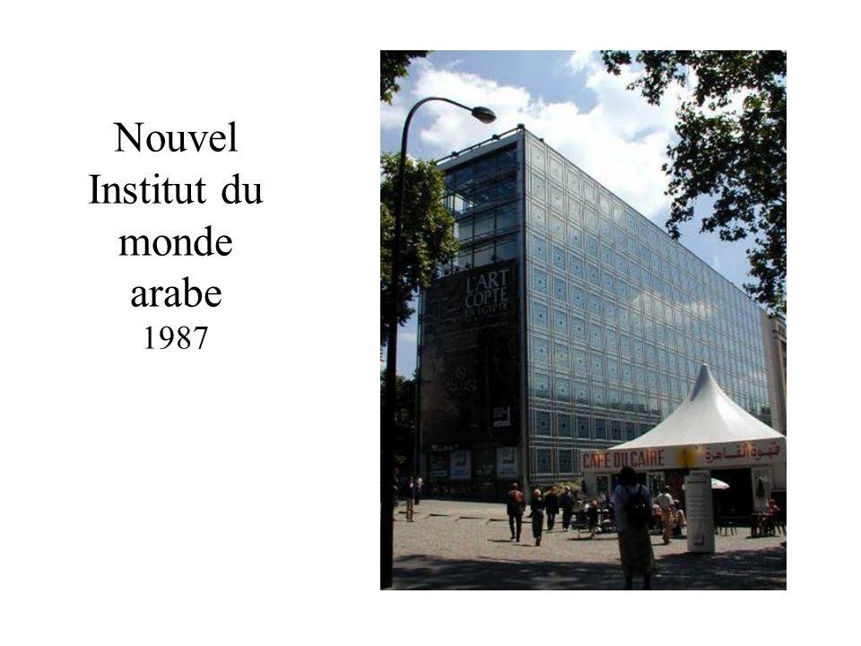 Nouvel Institut du monde arabe 1987