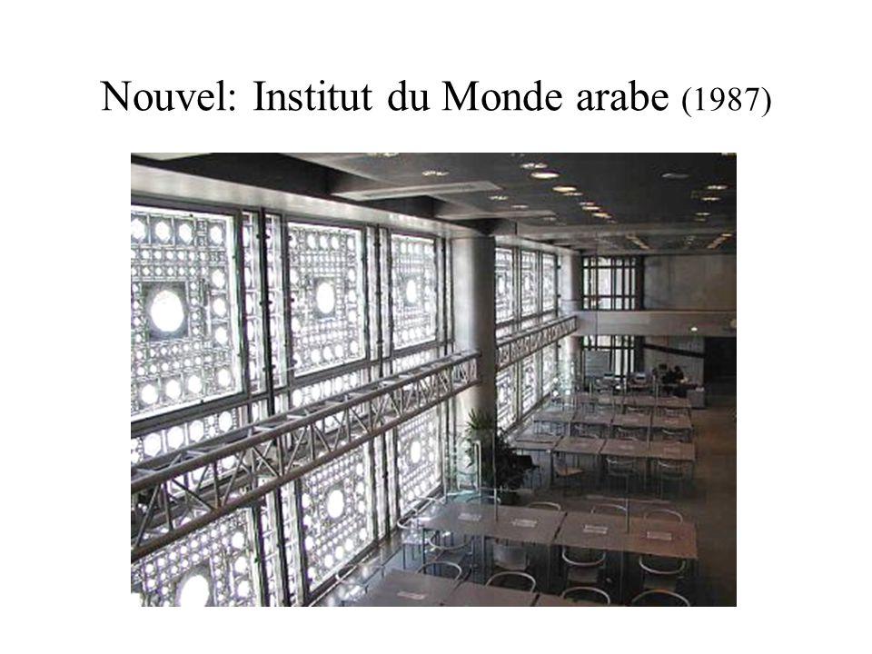 Nouvel: Institut du Monde arabe (1987)