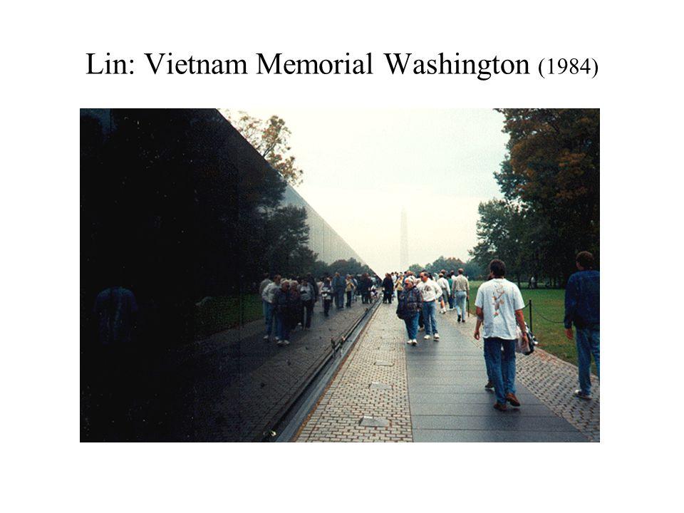 Lin: Vietnam Memorial Washington (1984)