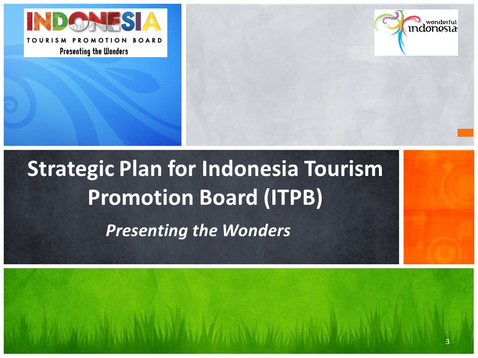 Strategic Plan for Indonesia Tourism Promotion Board (ITPB) Presenting the Wonders 3