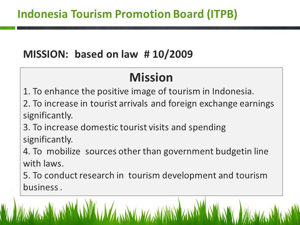 Strategic – Partnership (2011-2015) Government of Indonesia Ministry of Tourism & Creative Economy Indonesia Tourism Promotion Board Official Private Based- Institution FacilitateGDPEconomyBusinessEquityGrow DevelopMan-MadeCultureTalentCreativityCommercialize PreserveGod-MadeNatureSocietySustainabilityExpose MacroStrategic - PartnershipMicro Wonderful Indonesia:Presenting the Wonders VISION – MISSION - VALUES Citizenship Respon- sibilities Trust- worthiness Respect 7 Indonesia Tourism Promotion Board (ITPB)
