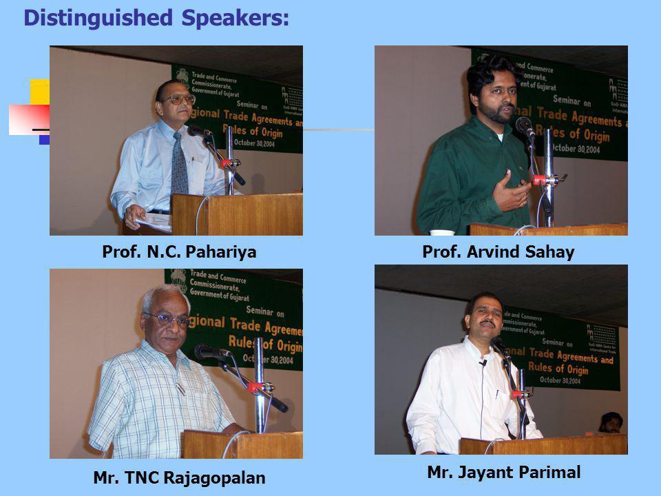 Prof. N.C. PahariyaProf. Arvind Sahay Mr. TNC Rajagopalan Mr.