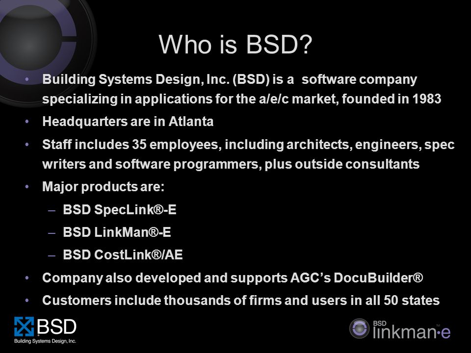 Who is BSD. Building Systems Design, Inc.