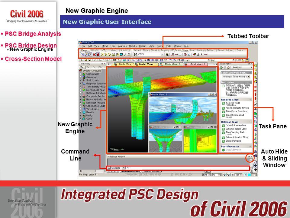  PSC Bridge Design  Cross-Section Model  PSC Bridge Design  Cross-Section Model  PSC Bridge Analysis New Graphic Engine Civil 6.1.0Civil 2006 Improved Graphic Display