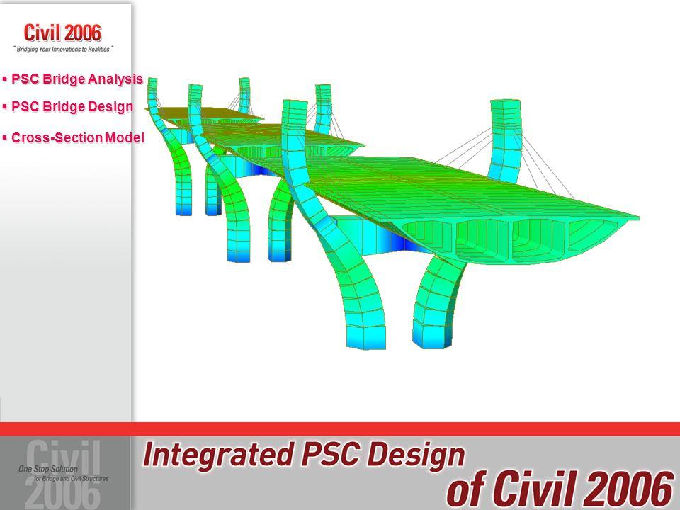  PSC Bridge Design  Cross-Section Model  PSC Bridge Design  Cross-Section Model  PSC Bridge Analysis