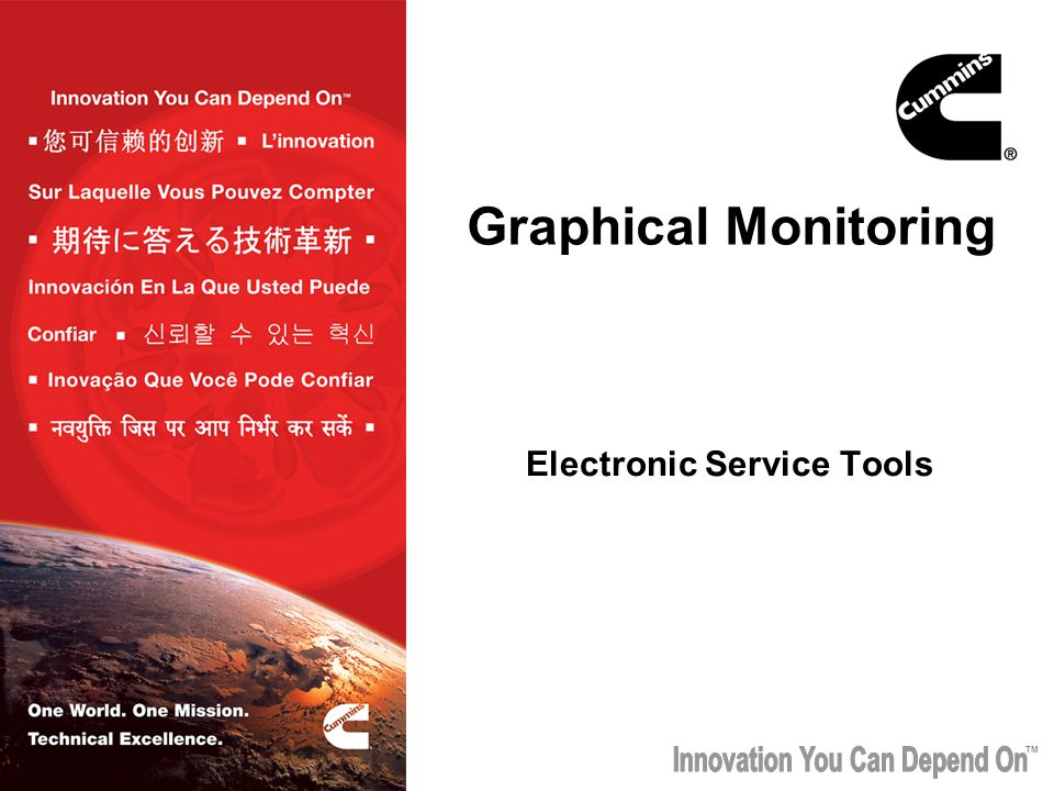 TM Graphical Monitoring Electronic Service Tools