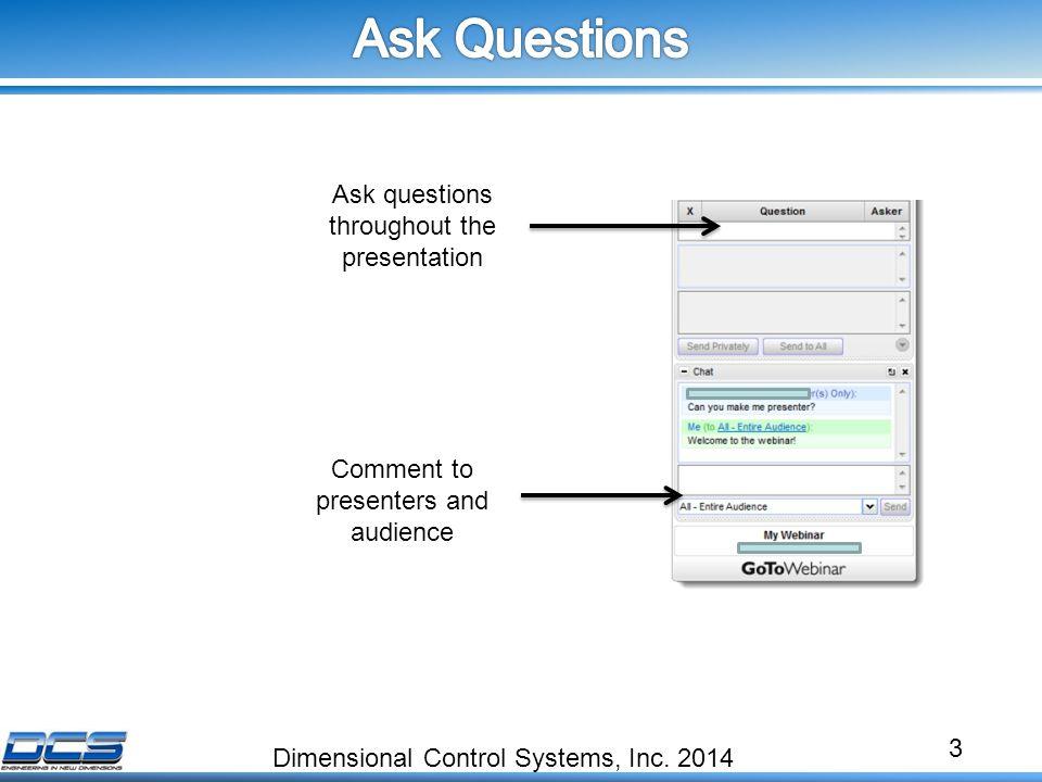 3 Dimensional Control Systems, Inc.