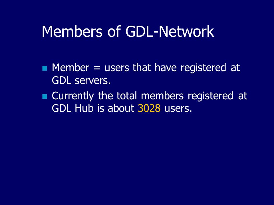The Distribution Map of GDL- Network Partners By August 2001