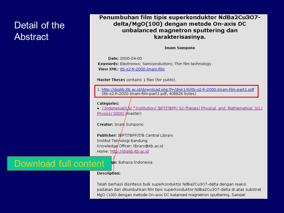 Department's Directory … [4] URL = http://digilib.itb.ac.id/go.php?top=/S2-Master_Theses/ Biology/1998/ See detail