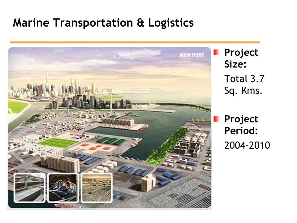 Marine Transportation & Logistics Project Size: Total 3.7 Sq. Kms. Project Period: 2004-2010