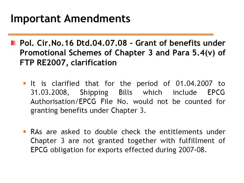 Important Amendments Pol.