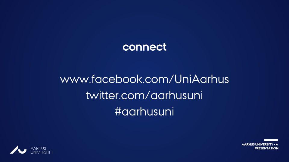 AARHUS UNIVERSITY - A PRESENTATION AARHUS UNIVERSITET connect www.facebook.com/UniAarhus twitter.com/aarhusuni #aarhusuni