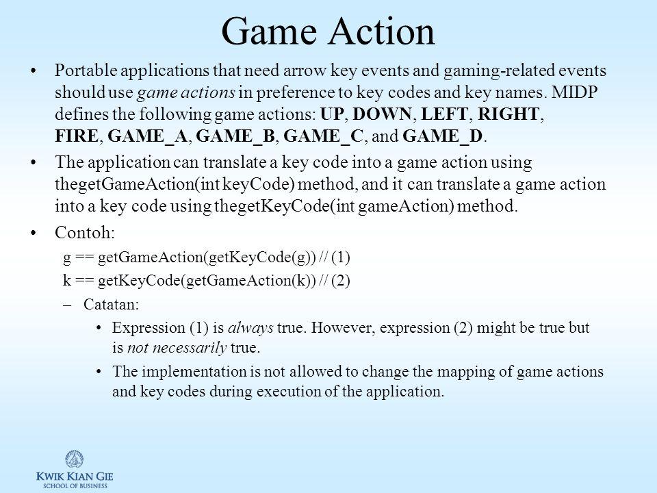 Key Events & Key Codes MIDP defines the following key codes (ITU-T standard telephone keypad): KEY_NUM0, KEY_NUM1, KEY_NUM2, KEY_NUM3, KEY_NUM4, KEY_NUM5, KEY_NUM6, KEY_NUM7, KEY_NUM8, KEY_NUM9, KEY_STAR, and KEY_POUND.