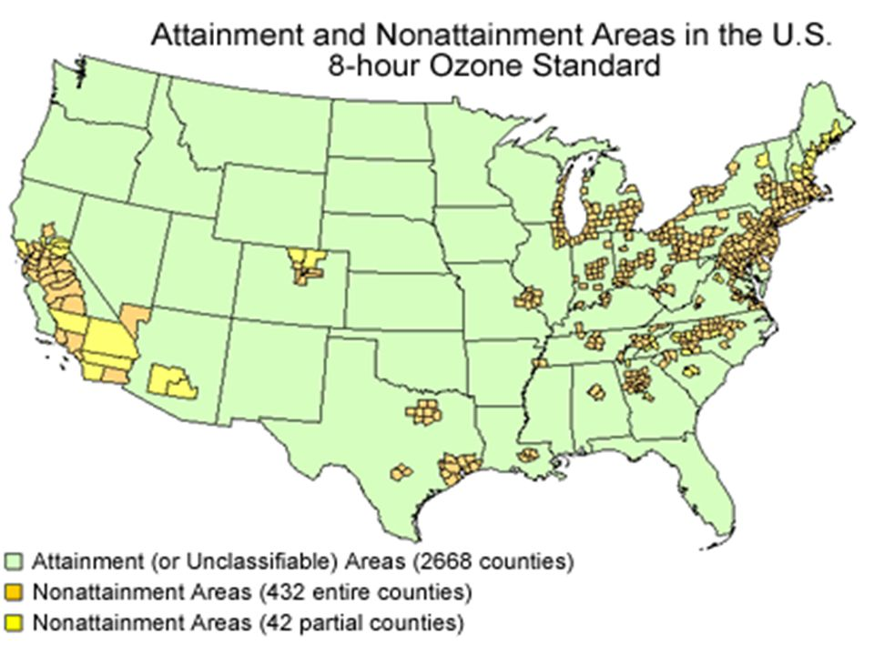 Refining Industry Challenges Impact of 8-Hour Ozone Designations Approximately 120 new non-attainment areas –Each area will consider fuels controls –Areas have very little time to reach attainment (2007) –Benefits of clean fuels/vehicles programs will be of little help Approximately 40 non-attainment areas under both old and new NAAQS –Will be difficult for many of these to reach attainment –17 already use RFG –18 are in California & use CARB RFG