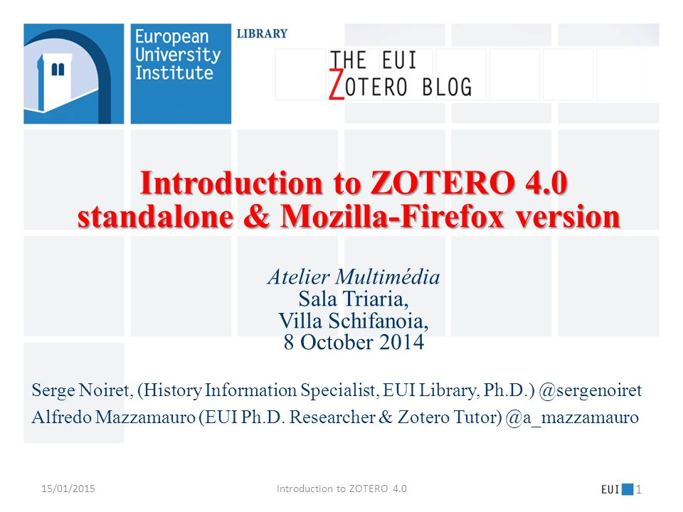 Chapter 1: Chapter 1: What is Zotero [zoh-TAIR-oh] .
