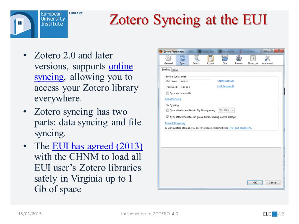 Zotero 2.0 and later versions, supports online syncing, allowing you to access your Zotero library everywhere.online syncing Zotero syncing has two parts: data syncing and file syncing.