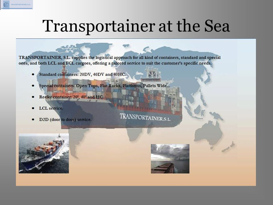Transportainer at the Sea