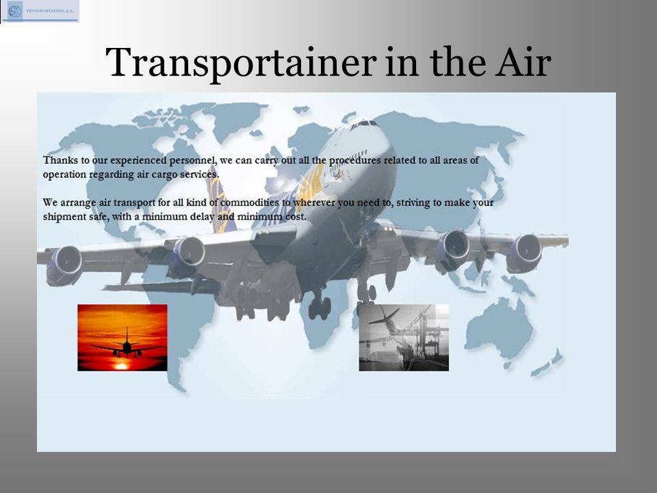 Transportainer in the Air