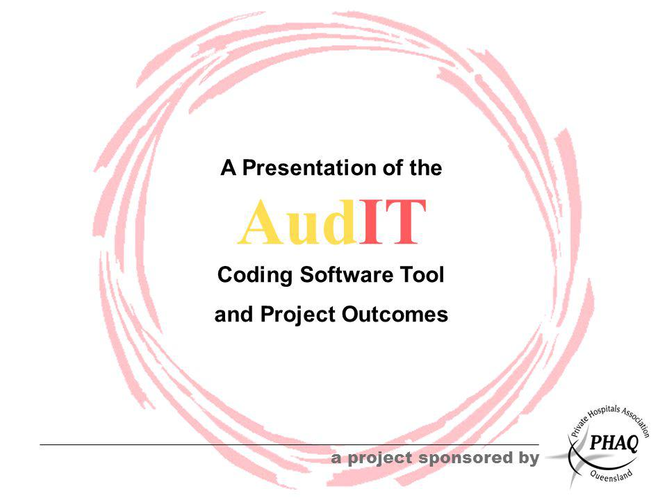 AudIT a project sponsored by A Presentation of the Coding Software Tool and Project Outcomes