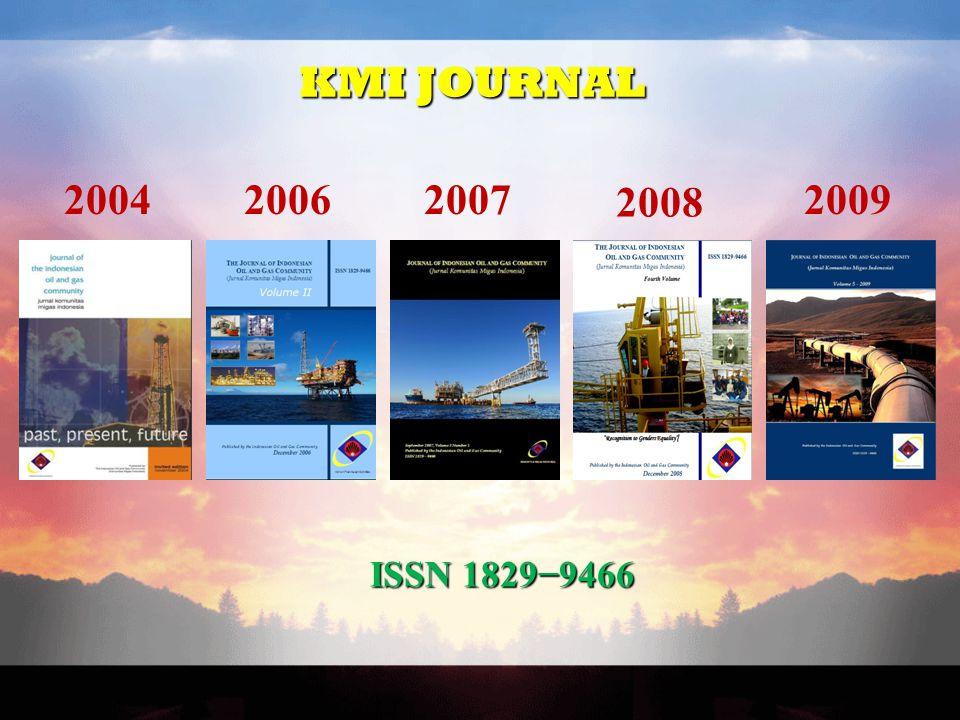 KMI JOURNAL ΙSSΝ 1829−9466 200420062007 2008 2009