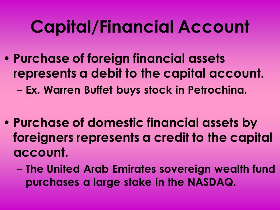 What causes Capital/Financial Flows.