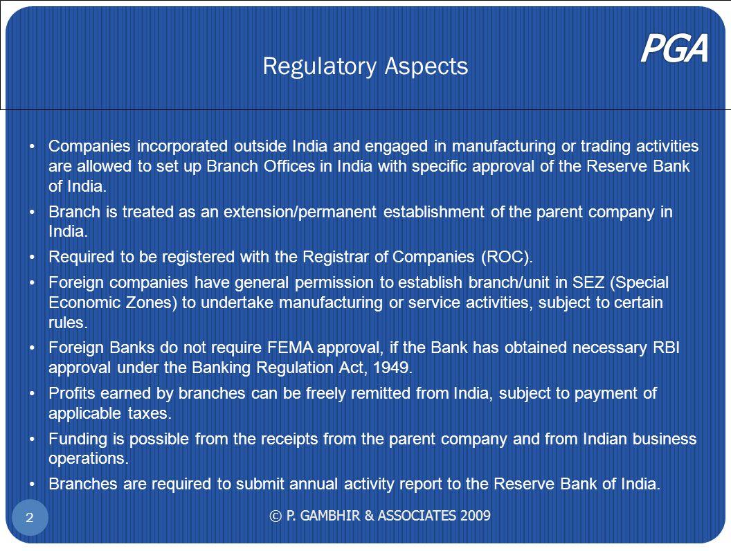 Regulatory Aspects © P.