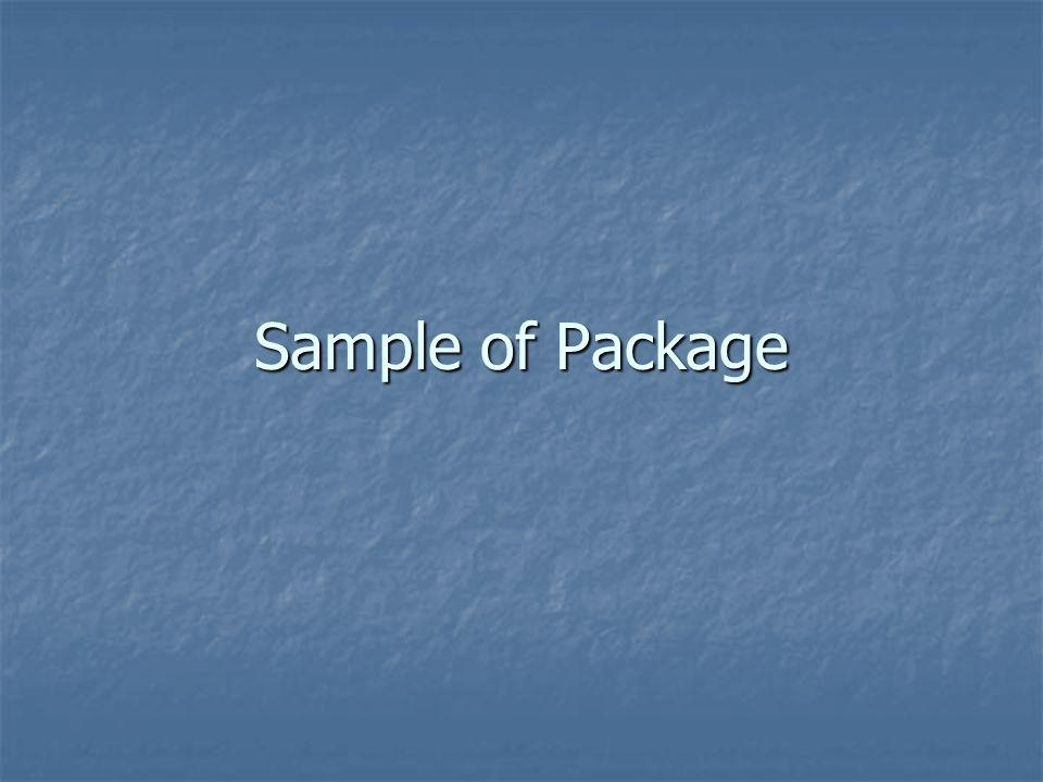 Sample of Package