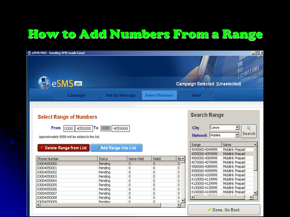 How to Add Numbers From a Range