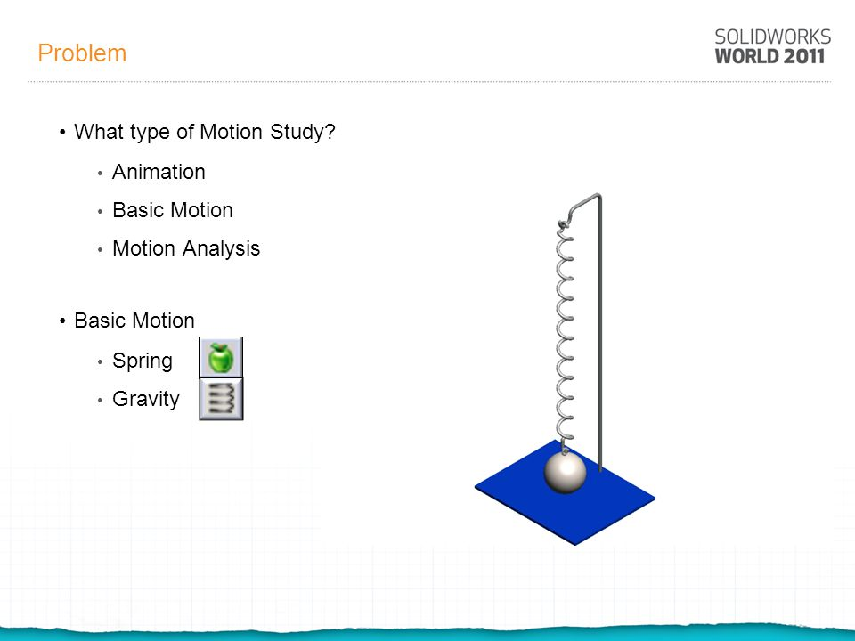 Problem What type of Motion Study.