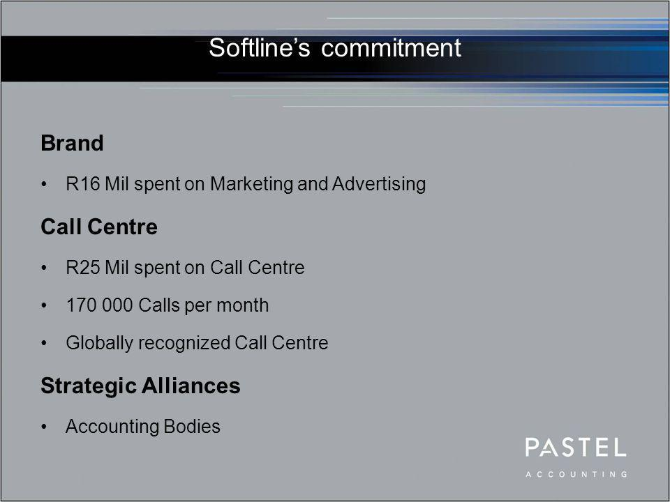 Softline's commitment Technology Leaders Ongoing Investment in R&D Continuous software development and enhancements New products, new markets Skills Development Certified Schools Programme (CSP) Tertiary and Commercial Training institutions Seeding the market (Today's Learners – Tomorrow's Buyers)