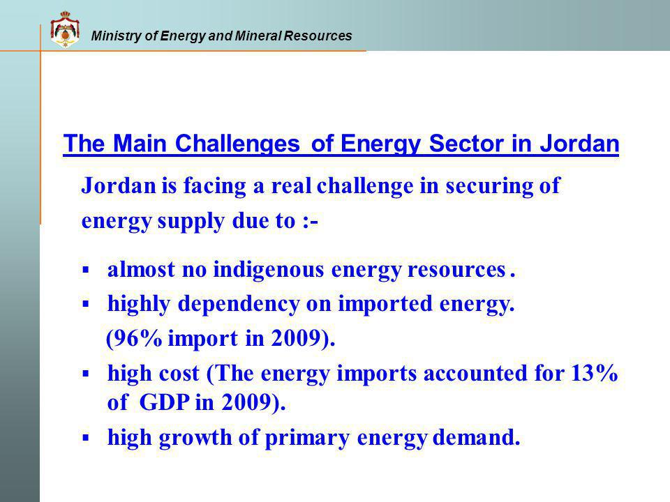 Jordan is considered as a hub and transit country and can play a major role linking oil, gas and electricity network among the region.