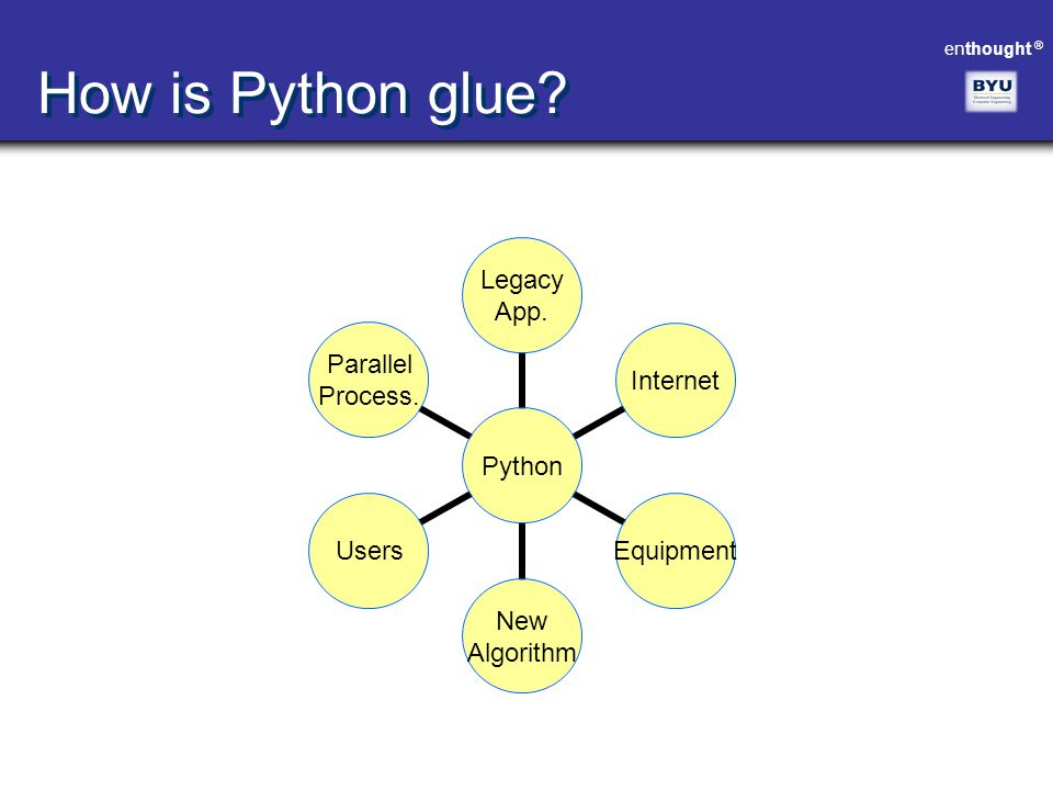 enthought ® How is Python glue?