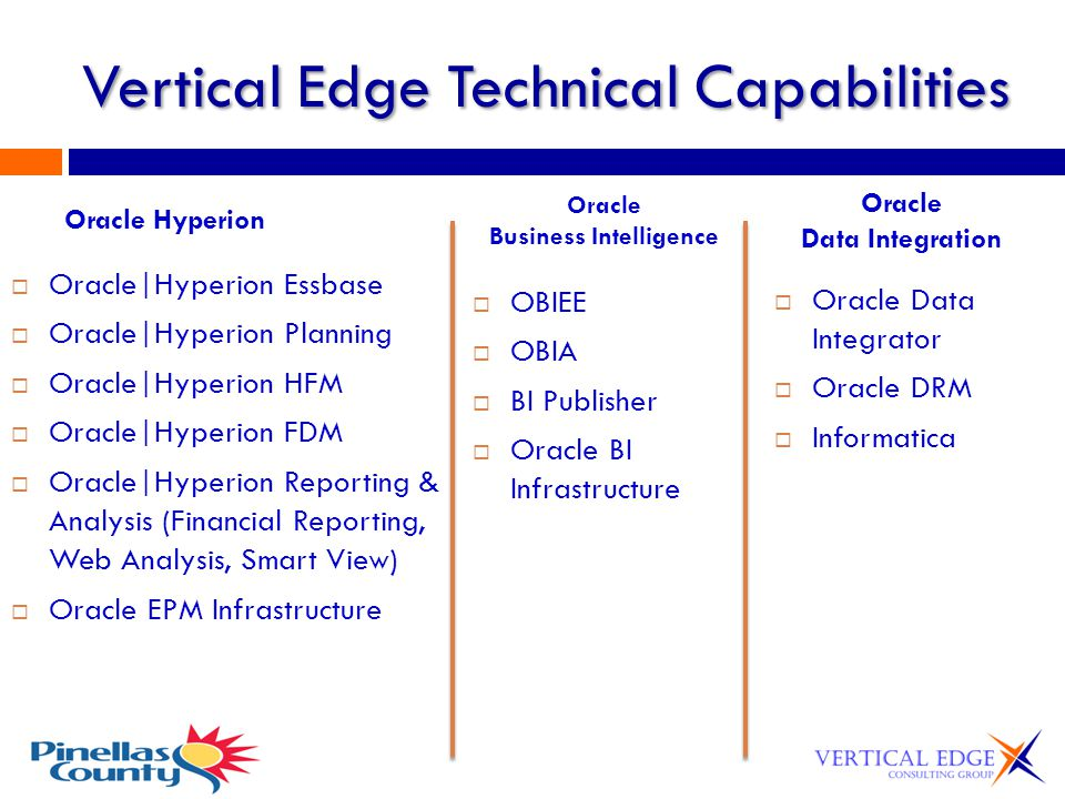Vertical Edge Not just another vendor, but an experienced Partner.