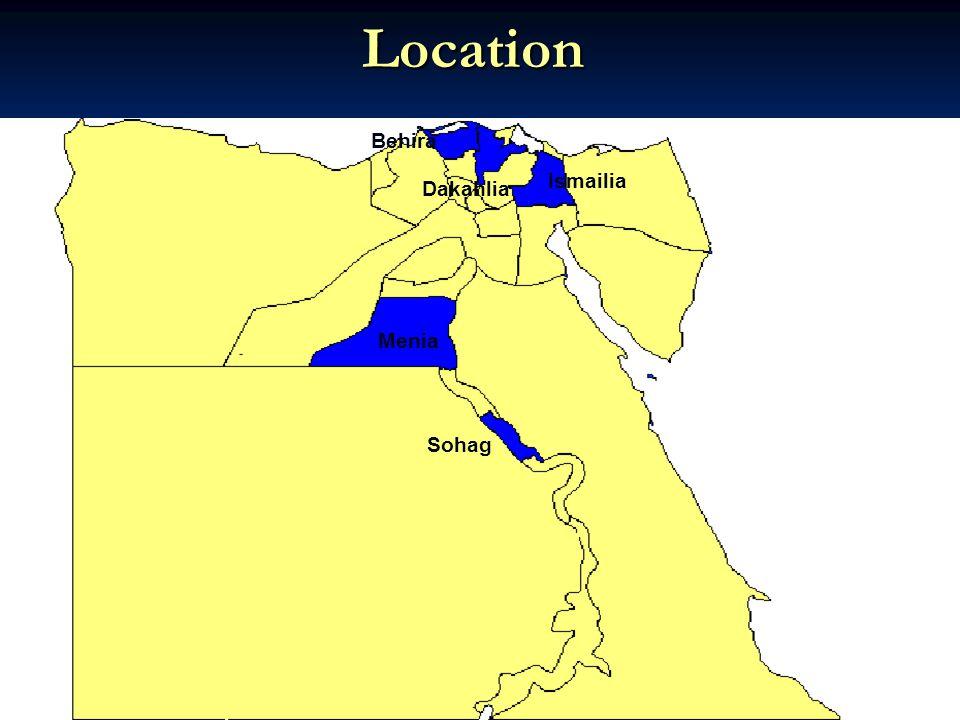 Ismailia Dakahlia Menia Behira Sohag Location