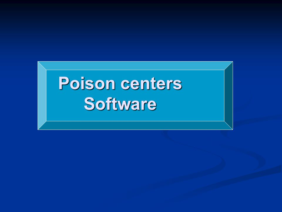 Poison centers Software