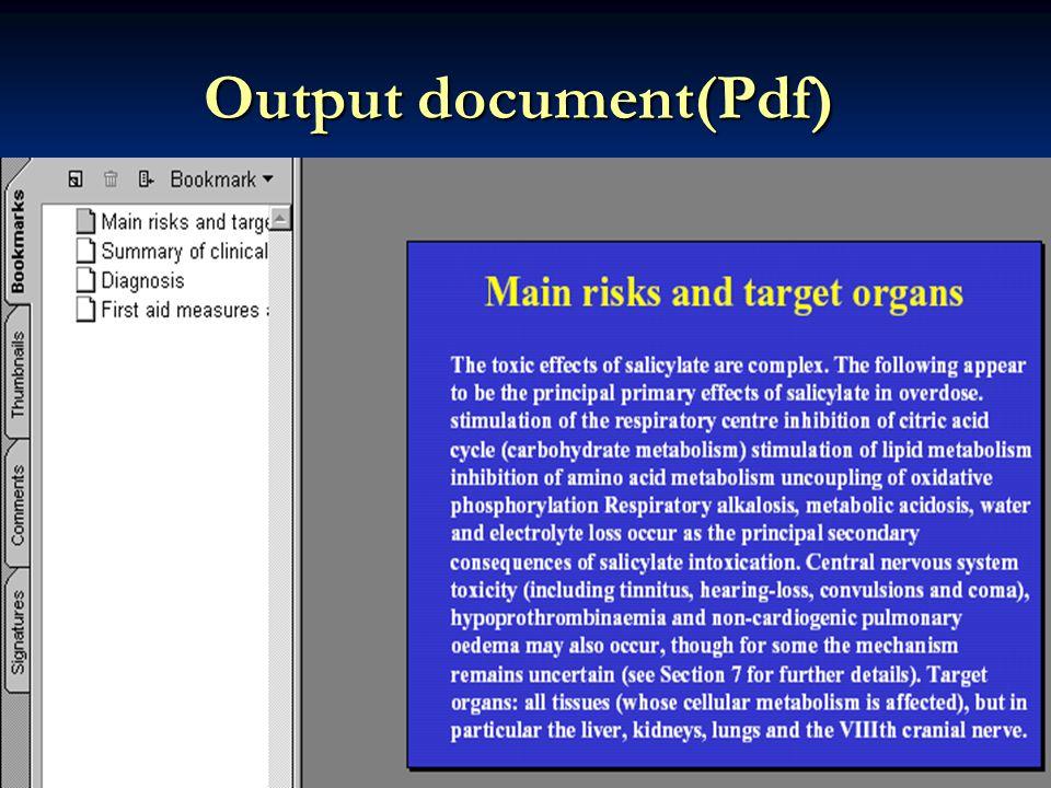 Output document(Pdf)