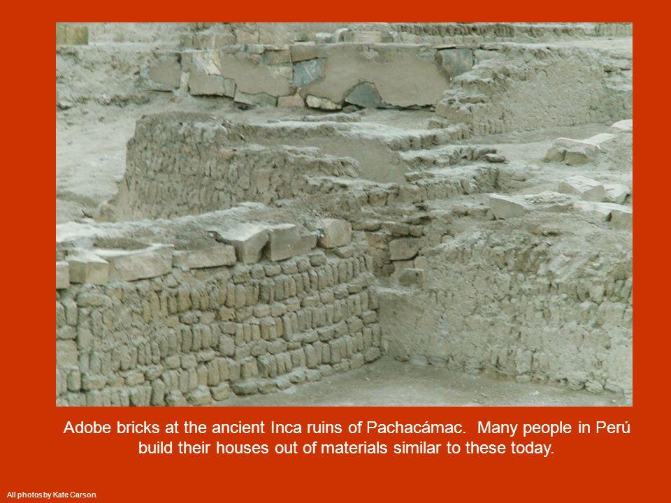 Adobe bricks at the ancient Inca ruins of Pachacámac.