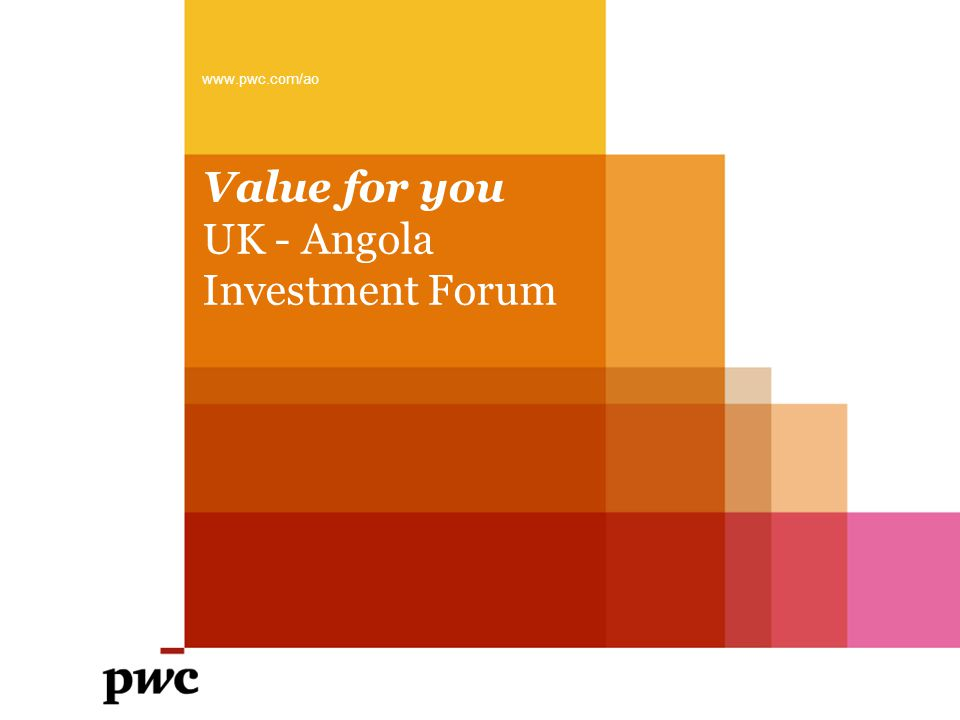 Value for you UK - Angola Investment Forum www.pwc.com/ao