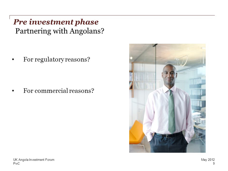PwC Restricted sectors 3 10 UK Angola Investment ForumMay 2012