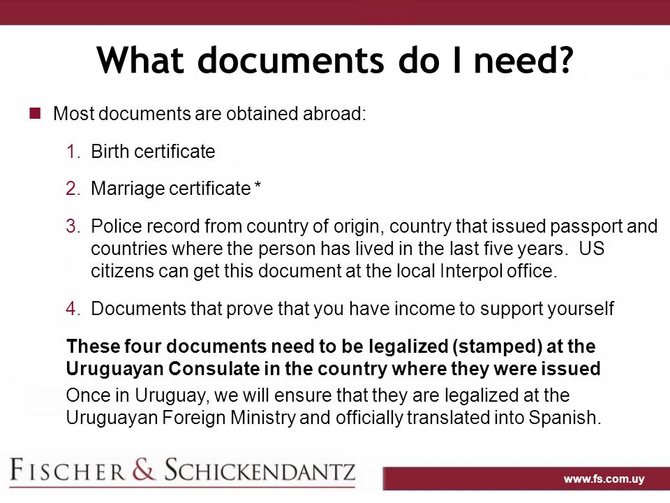 www.fs.com.uy What documents do I need.