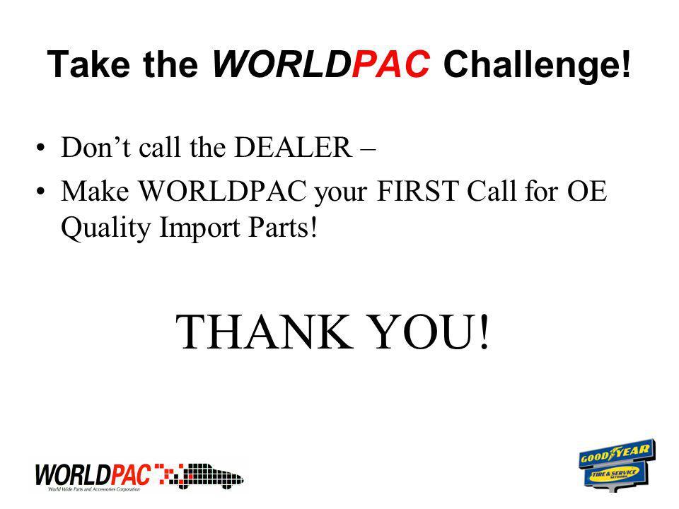 Take the WORLDPAC Challenge.
